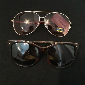 Fossil Aviator Sunglasses and BP Cat Eye